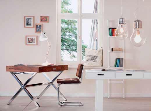 Nábytek s chromovanou podnoží a ušlechtilou dýhou vnese do interiéru nádech luxusu. Dejte mu volný prostor, můžete jej umístit i do obývacího pokoje.