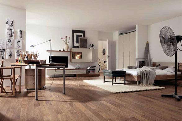 Společnost Hülsta nabízí designově sladěné kolekce nábytku a vybavení do celého bytu. Na obrázku ukázka z řady Now Time. Prodává studio Home Style.