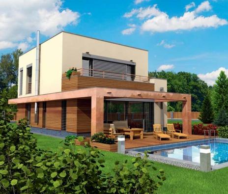 Varianta moderního pasivního domu MAPLE 20 s roční spotřebou14,0 kWh/m2 (HOFFMANN).