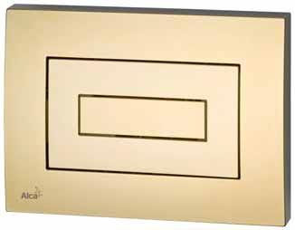 Splachovací tlačítko z řady M 475 v obdélníkovém provedení, cena 3 620 Kč (ALACA PLAST).