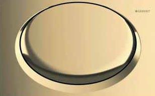 Luxusní provedení tlačítka Tango s pozlaceným povrchem, cena 34 358 Kč (GEBERIT).