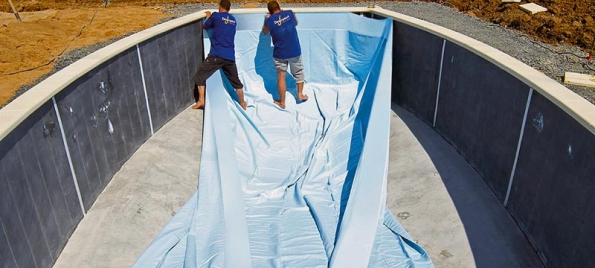 Vyložení bazénu fólií