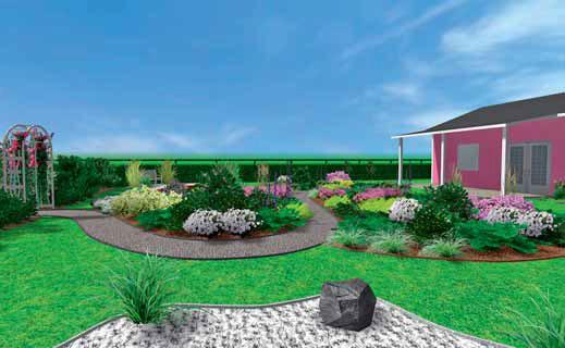 Rovinaté vřesoviště tvoří centrum zahrady a je na něj vyhlídka z různých stran.