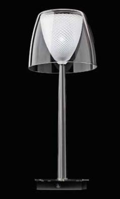 Stojací lampa z kolekce Glory využívá nejmodernejší úsporné zdroje. Design Jaroslav Bejvl, vyrábí Preciosa Lighting.