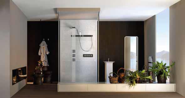 Sprchování dnes nabízí netušené možnosti relaxace a masážních programů, hlavně díky pokročilým a sofistikovaným bateriím (DESIGN BATH).