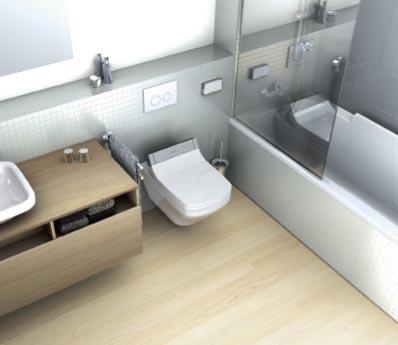 Bidetové WC sedátko Starck 3 Senso Wash (DURAVIT) spojuje bidet stoaletou, elektrické dálkové ovládání víka isedátka, individuálně nastavitelná teplota vody, sedátka avysoušení aintenzity proudu vody, noční světlo, cena  29 041 Kč, CREA KOUPELNY.