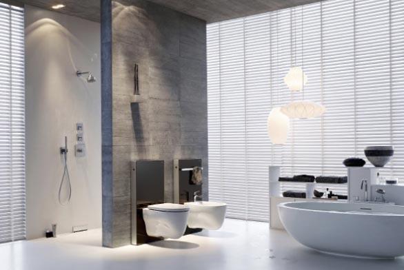 Modul pro závěsné WC Monolith (GEBERIT), kombinace skla ahliníku, cena 15 477 Kč, ONLINE KOUPELNY.