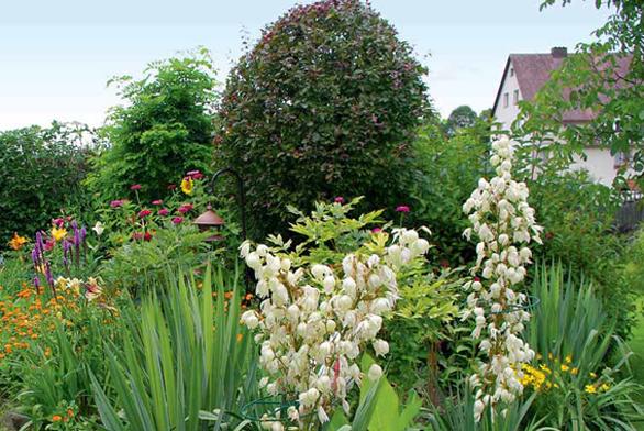 Celou zahradu si majitelka navrhovala sama, realizovala ji pak za přispění svého manžela, který dělá některé údržbové a stavební práce.