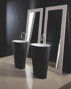 Umyvadlo Body je ukázkou italského koupelnového designu, je vyrobeno z materiálu K-PLAN – materiál složený z vysokého procenta přírodního plniva s nízkým podílem akrylátové polyesterové pryskyřice. Velice příjemný na dotek, vhodný pro výrobu umyvadel, van a sprchových vaniček. www.mastella.it.