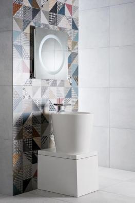 Sérii lze kombinovat s jednobarevnými obklady v mnoha odstínech, nabízí bohaté použití nejen v koupelnách, ale kdekoliv v interiéru.