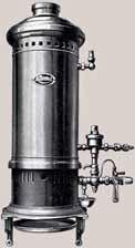 První ohřívač vody na svítiplyn vynalezl Angličan Benjamin Vaughan v roce 1868.