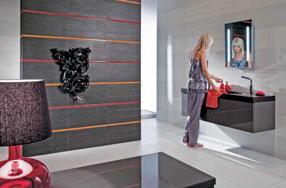 Obklad ze série Fashion (Rako), rektifi kované obkládačky 30 × 60 cm, cena 599 Kč/m2 (MK CENTRA ČESKÉ KERAMIKY).