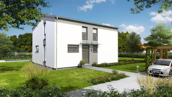 Kompaktní vnější rozměry poskytují 160 m2 užitné plochy.