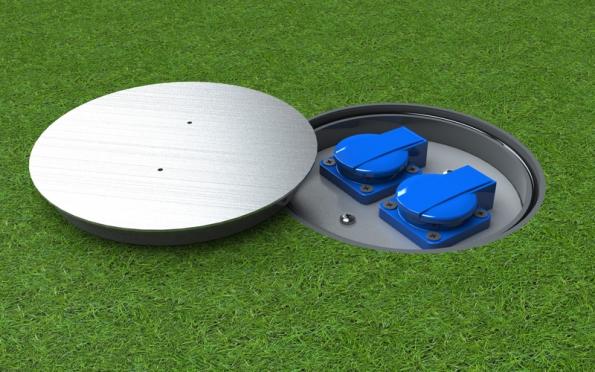 Podlahová zásuvka exteriér IP67 STAKOHOME, zahrada.