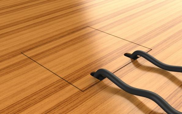 Podlahová zásuvka interiér STAKOHOME.