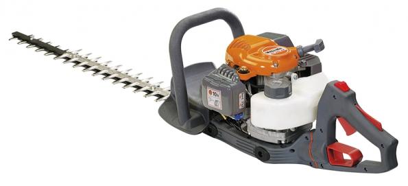 Benzinové plotové nůžky HC 265 XP mají rukojeť nastavitelnou do5 poloh (MOUNTFIELD).