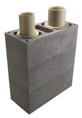 Dvojprůchodový komín vám umožní připojit spotřebiče v horním i dolním patře.