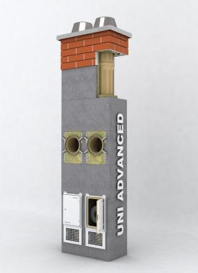 Dobrý výkon i cena: komín Uni Advanced.