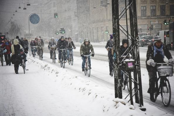 Kodaň v zimě