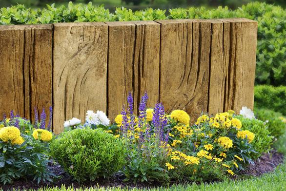 Betonové zahradní palisády