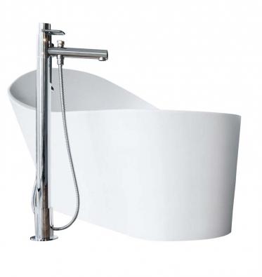 Vana Palomba (Laufen), materiál akrylát, ergonomické vnitřní tvarování, cena 126762Kč, www.laufen.cz.