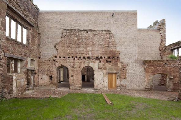 Sídlo Astley Castle vhrabství Warwickshire