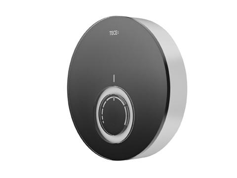 Moderní skleněný vzhled a 3 barevná provedení – černá, bílá a oranžová, to je termostat TECE.