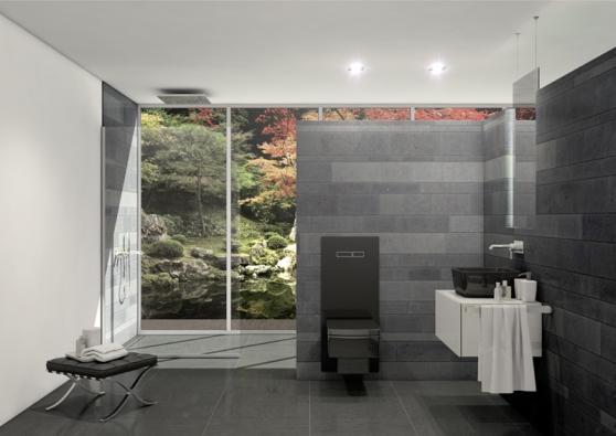 Černá verze TECElux bude originálním prvkem ve Vaší koupelně.