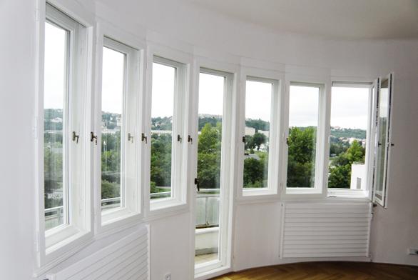 Ukázka obloukového špaletového okna – venkovní křídla sizolačním dvojsklem  (AZ EKOTHERM).