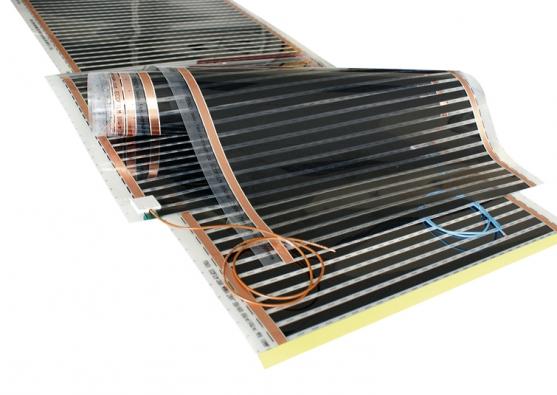 Topná fólie ECOFILM se dá umístit ipod koberec dochladnějších pokojů, např. dooblasti televizního křesla (FENIX).
