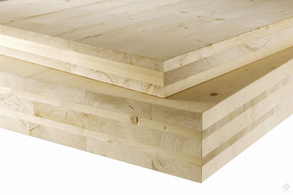Vhodným materiálem pro suché podlahy je masivní deskový konstrukční systém ze dřeva vrstveného a lepeného křížem.
