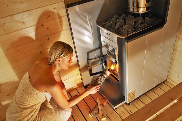 Saunová kamna nadřevo pro venkovní sauny (FINSKASAUNA.CZ).