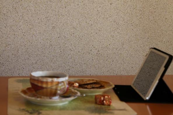 Tapeta představuje balení suché směsi bavlny, hedvábí, celulózy, vláken bambusu a viskózy, po smíchaní svodou tapetu lze použít na jakýkoliv pevný podklad: zeď, strop, sádrokarton, umakart, dřevotřískové nebo polypropylenové desky.