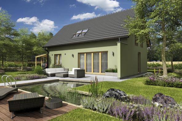 3. místo zaujal projekt domu Pozitiv, nabízí  G SERVIS CZ, s. r. o. (soutěžní kód K097).