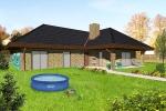 Na2. místě projekt domu Villa B75, navrhuje VILLA- projektový ateliér, s. r. o. (K131).