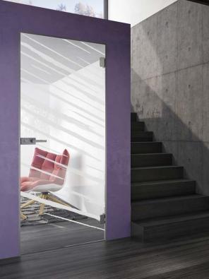 Skleněné dveře jsou moderním avelice kreativním způsobem, jak ozvláštnit každý interiér (J.A.P.).