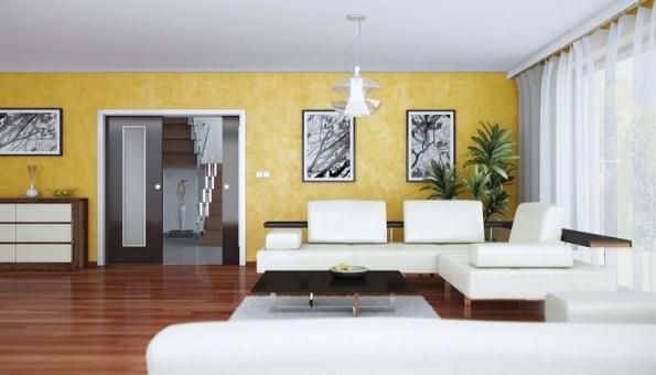 Posuvné dveře Elegant mají moderní vzhled, jsou elegantní amůžete si vybrat ze širokého výběru povrchových úprav. Tyto dveře nejlépe doplní zejména moderní alehce zařízené interiéry (SAPELI).