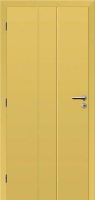 Moderní interiérová řešení si žádají ivýraznější barvy, zajímavá je ztohoto hlediska duhová řada lakovaných dveří Rainbow. Zvoleny byly barvy pro odvážnější istřídmější interiéry: cappuccino, antracitová šedá, čínská červeň, petrolejová modrá či žlutá písková (SOLODOOR).