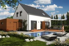 Přízemní dům s využitým podkrovím