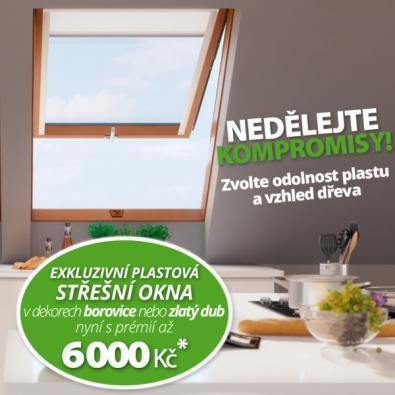 Okna s odolností plastu a vzhledem dřeva