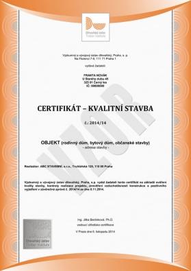 Podrobnosti a další informace o službě certifikát Kvalitní stavba na www.drevarskyustav.cz.