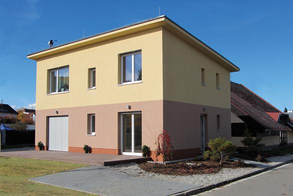 Vzorový pasivní dům HELUZ Triumf z cihel HELUZ Family 50 2in1 v Českých Budějovicích.