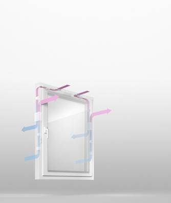 Patentovaný systém GENEO Inovent – nucené větrání srekuperací přes okenní rám