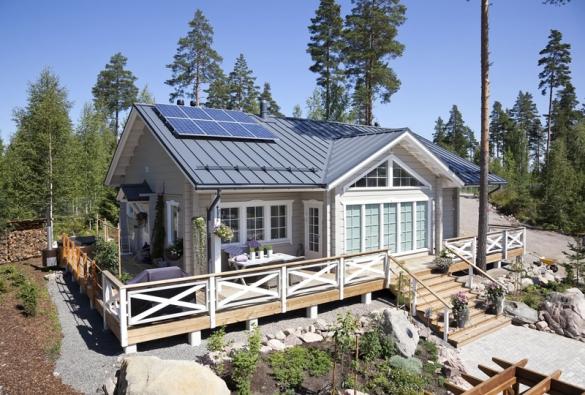 Ocelové střechy vidíte ve Skandinávie téměř na každé menší i větší dřevostavbě.