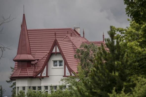 Střecha Ruukki na vile Paula ve Vysokých Tatrách.