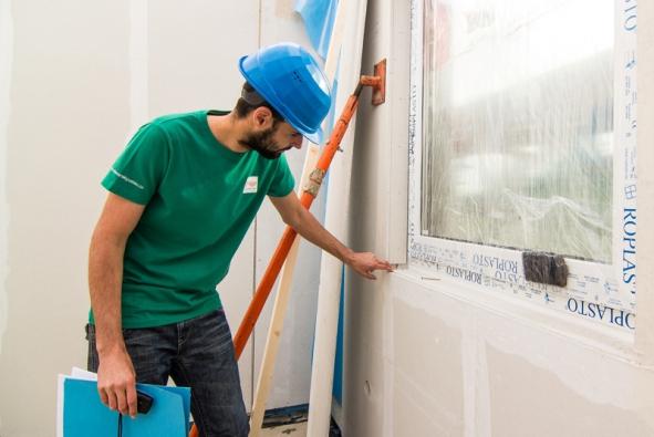 Kontrola osazení oken a dveří vrámci Certifikátu Kvalitní stavba.