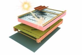 Systém se solární úpravou proti přehřívání střechy