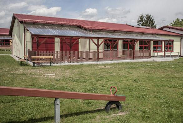 Ocelová střecha Ruukki Monterrey, dětská školka