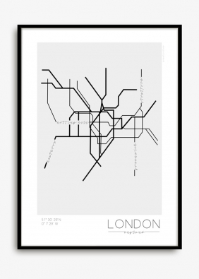 Naordinujte svým stěnám léčebnou skandinávskou kůru v podobně graficky zpracovaného plánku londýnského metra!