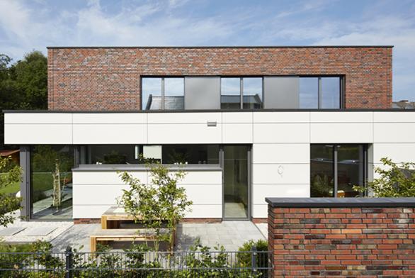 Dům v německém Rheine je domovem a kanceláří